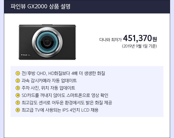 파인뷰 LX 2000 상품 설명