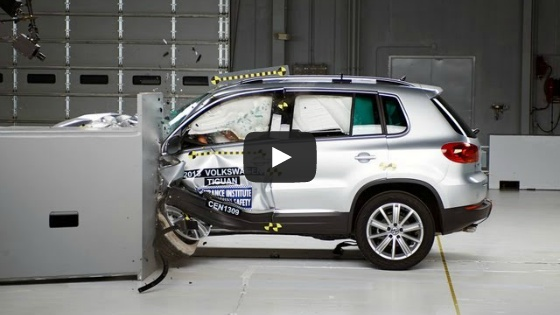 [IIHS] 2013 Tiguan small overlap IIHS crash test