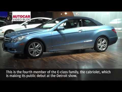 [Autocar] Detroit motor show: Mercedes E class cabriolet