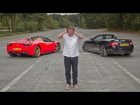 [Autocar] Ferrari 458 Spider vs Jaguar XKR-S: which sounds best?