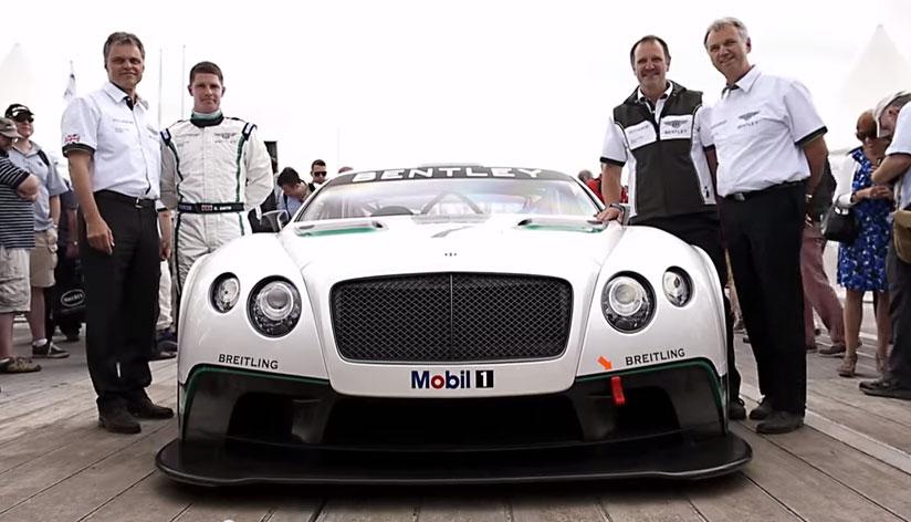 Bentley debuts its new Continental GT3 race car