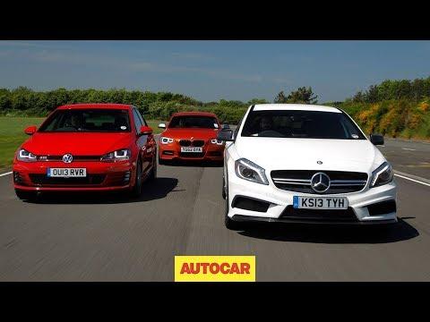 [Autocar] Mercedes A45 AMG vs Volkswagen Golf GTI vs BMW M135i