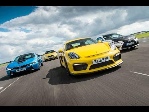 [Autocar] Porsche Cayman GT4 vs BMW M4 vs BMW i8 vs Lexus RC F drag race