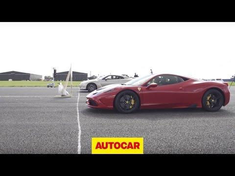 [Autocar] Nissan GT-R vs Ferrari 458 Speciale vs McLaren 650S - Drag Race