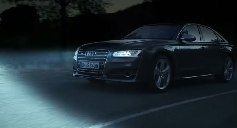 he Audi A8: delightful luxury