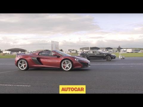 [Autocar] Tesla Model S P85D vs McLaren 650S | Drag Race