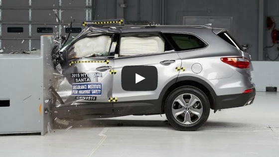 [IIHS] 2015 Santa Fe small overlap IIHS crash test