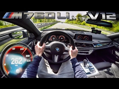 [AutoTopNL] BMW M760Li 6.6 V12 BiTurbo AUTOBAHN POV Acceleration & TOP SPEED by AutoTopNL