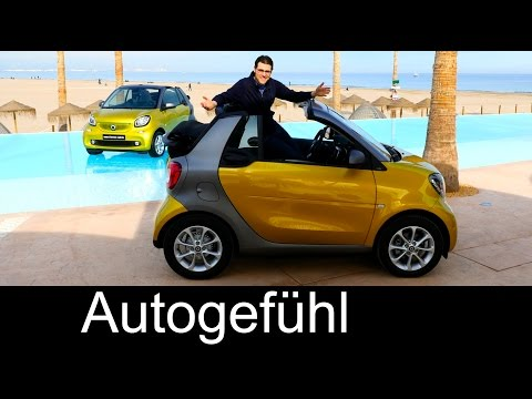 [Autogefühl] Smart fortwo Cabrio FULL REVIEW test driven all-new convertible passion/prime/Brabus ta