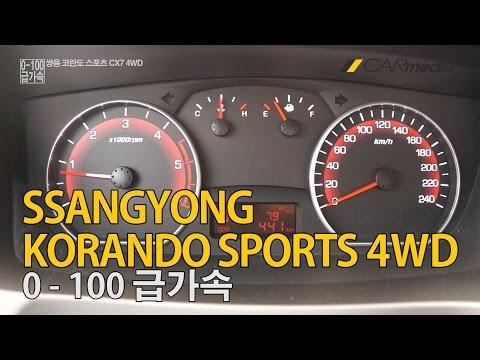 [카미디어] 코란도 스포츠 4WD 급가속