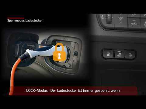 [KIA User video guide] Niro PHEV - Sperrmodus Ladestecker