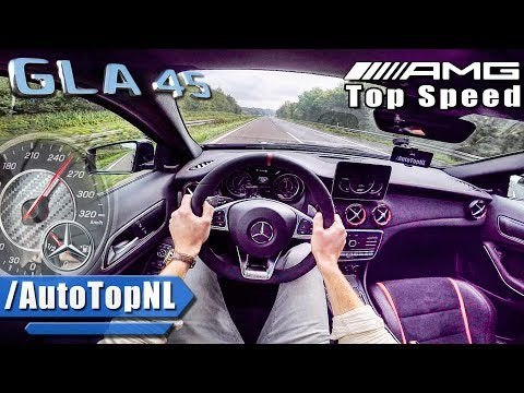 [AutoTopNL] GLA 45 AMG AUTOBAHN POV TOP SPEED & RACE START