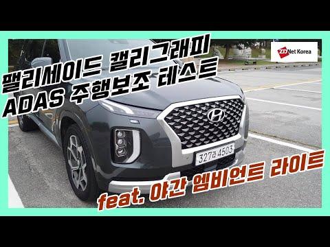 [지디넷코리아] [ADAS 테스트] 약 1분간 스스로 운전하는 2020 팰리세이드 캘리그래피(엠비언트 라이트, 디지털 클러스터 장면도 덤!)