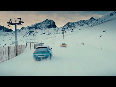 [오피셜] A ski day with Porsche – The new 911 and Macan hit the slope