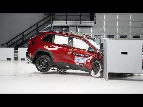 [IIHS] 2019 Toyota RAV4 passenger-side small overlap IIHS crash test
