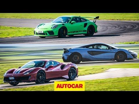 [Autocar] Ferrari 488 Pista vs McLaren 600LT vs Porsche 911 GT3 RS | 0-100mph-0 and lap times