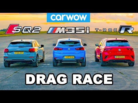 [carwow] BMW v Audi v VW - HOT HATCH (in disguise) DRAG RACE