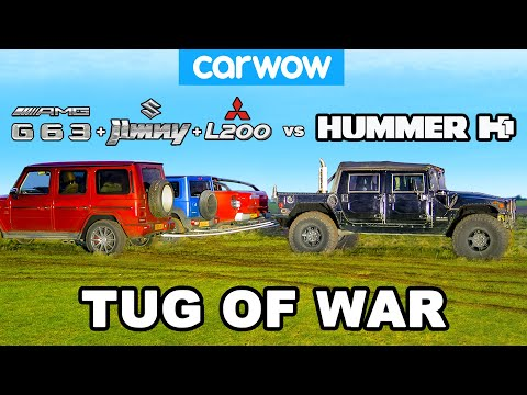 [carwow] Hummer H1 vs G63 + Jimny + L200: TUG OF WAR!