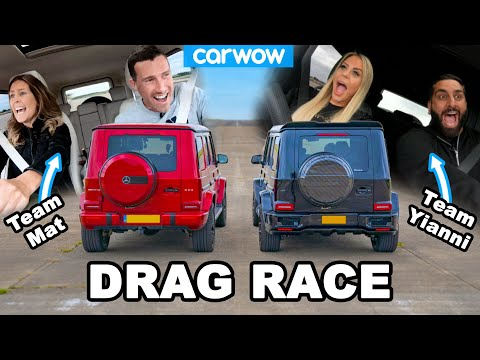 [carwow] AMG G63 Drag Race: my GIRLFRIEND vs Yianni