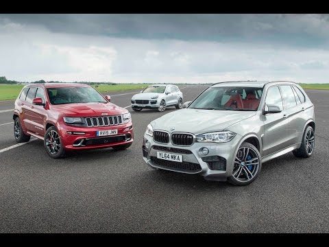 [Autocar] Jeep Grand Cherokee SRT vs Porsche Cayenne Turbo S vs BMW X5 M - performance SUV drag race