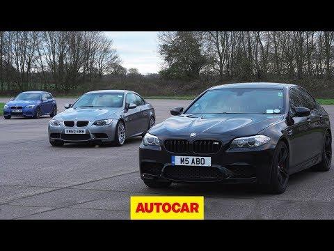 [Autocar] Affordable BMW M-car drag race | E92 M3 vs F10 M5 vs Birds M135i