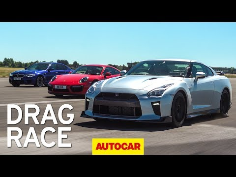 [Autocar] Litchfield Nissan GT-R vs BMW M5 vs Porsche 911 Turbo S drag race