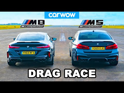 [carwow] BMW M8 vs M5 - DRAG RACE, ROLLING RACE & BRAKE TEST