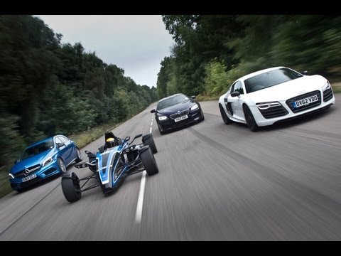 [Autocar] Road-legal 1.0-litre Formula Ford EcoBoost vs Audi R8, BMW M6 and an Mercedes A45 AMG