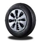p175/70 R14 타이어 & 14인치 스틸 휠이미지