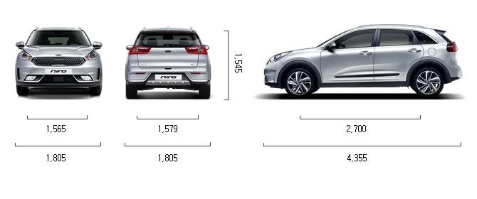 가솔린 1.6 하이브리드 제원 치수
