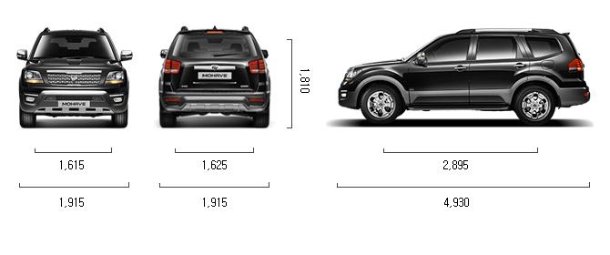 디젤 3.0 2WD 제원 치수