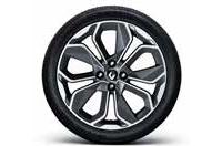 17인치 그레이 투톤 알로이 휠 & P205/45ZR 17 타이어이미지