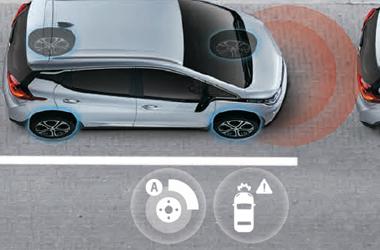 전방 충돌 경고 시스템 / 전방 거리 감지 시스템 / 저속 자동 긴급 제동 시스템이미지