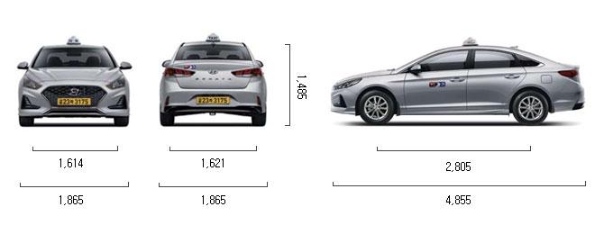 LPG 2.0 (택시) 제원 치수