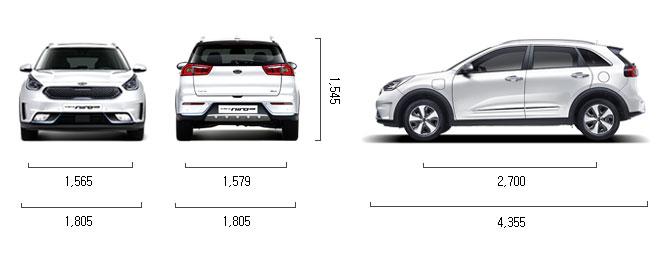 가솔린 1.6 플러그인 하이브리드 제원 치수