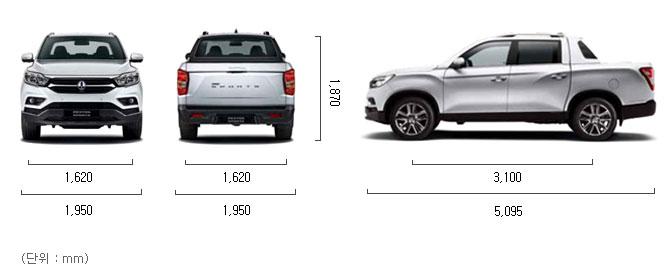 디젤 2.2 2WD 제원 치수