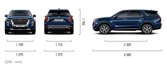 가솔린 3.8 2WD 제원 치수