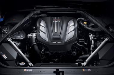 람다 3.3 V6 T-GDi 엔진이미지