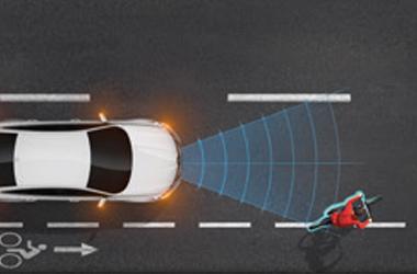 긴급 제동 보조 (차량/보행자/자전거 탑승자 감지)