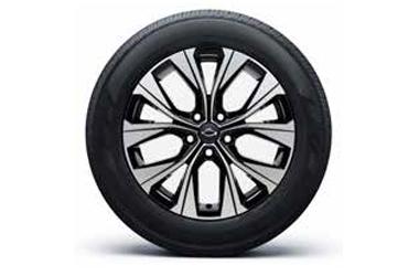 18인치 다이아몬드 컷팅 블랙 투톤 알로이 휠 & 225/60 R18 타이어이미지